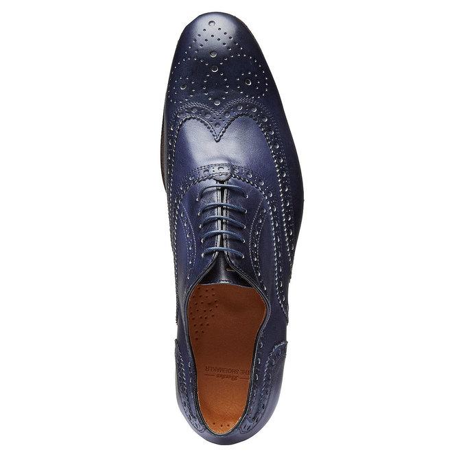 Chaussure lacée en cuir pour homme avec décoration shoemaker, Violet, 824-9145 - 19