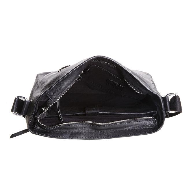 Cartable en cuir pour homme bata, Noir, 964-6182 - 15