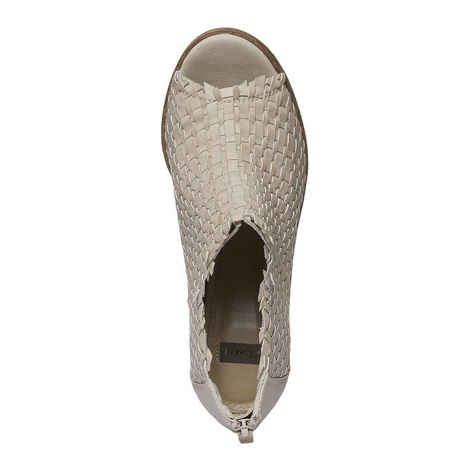 Sandale à bout ouvert bata, Jaune, 721-8945 - 19
