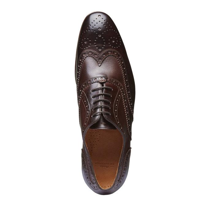 Chaussure lacée en cuir pour homme avec décoration shoemaker, Brun, 824-4145 - 19