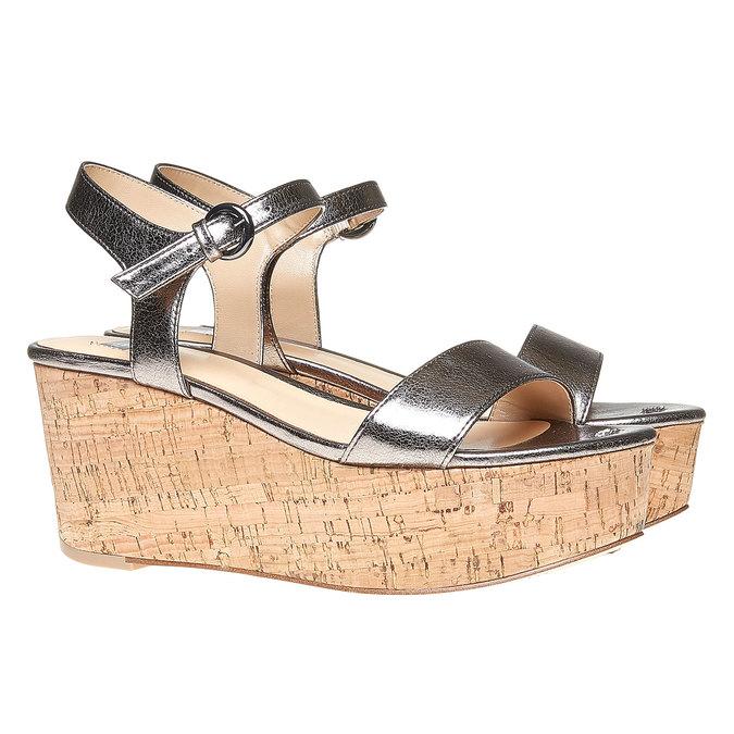 Sandale à plateforme bata, Blanc, 761-1528 - 26