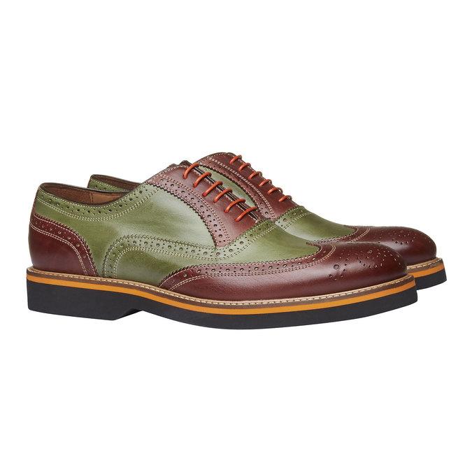 Chaussure lacée colorée en cuir shoemaker, Rouge, 824-5776 - 26