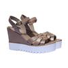 Sandales cuir à semelle épaisse bata, Gris, 764-2352 - 26