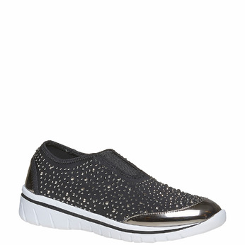 Tennis Slip-on avec petites pierres north-star, Gris, 539-2109 - 13