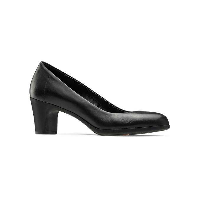 Escarpin en cuir noir flexible, Noir, 624-6393 - 13