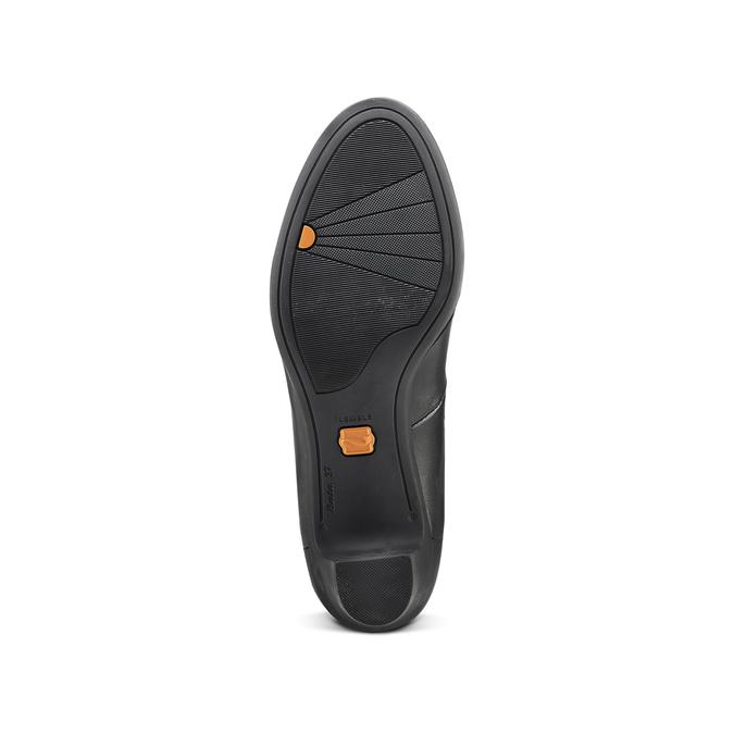Escarpin en cuir noir flexible, Noir, 624-6393 - 17
