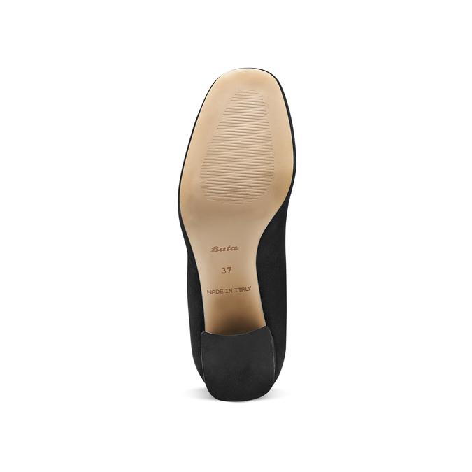 Escarpins en cuir à lacets bata, Noir, 723-6373 - 17