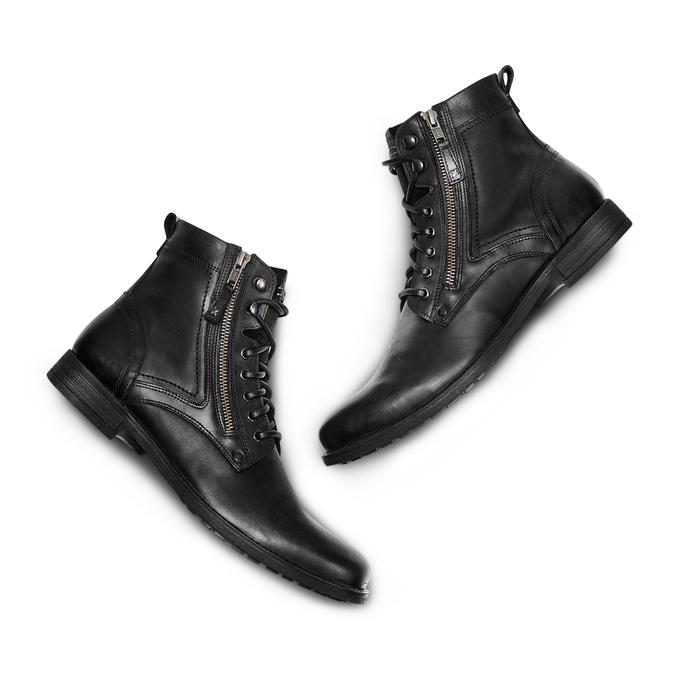 Bottine en cuir bata, Noir, 894-6449 - 26