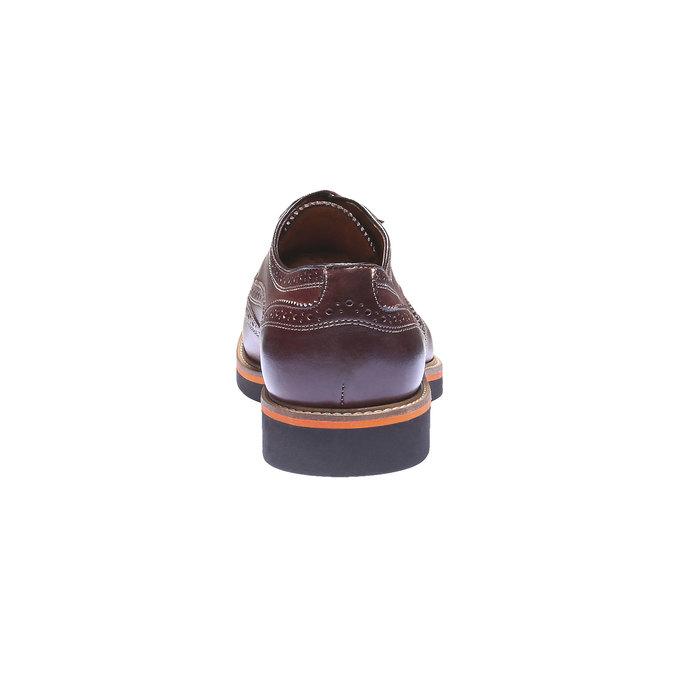 Chaussures en cuir Oxford à semelle contrastée shoemaker, Brun, 824-4132 - 17