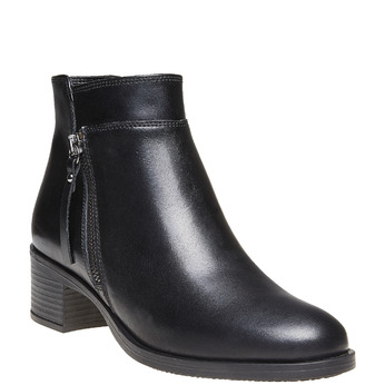 Bottines en cuir bata, Noir, 694-6166 - 13