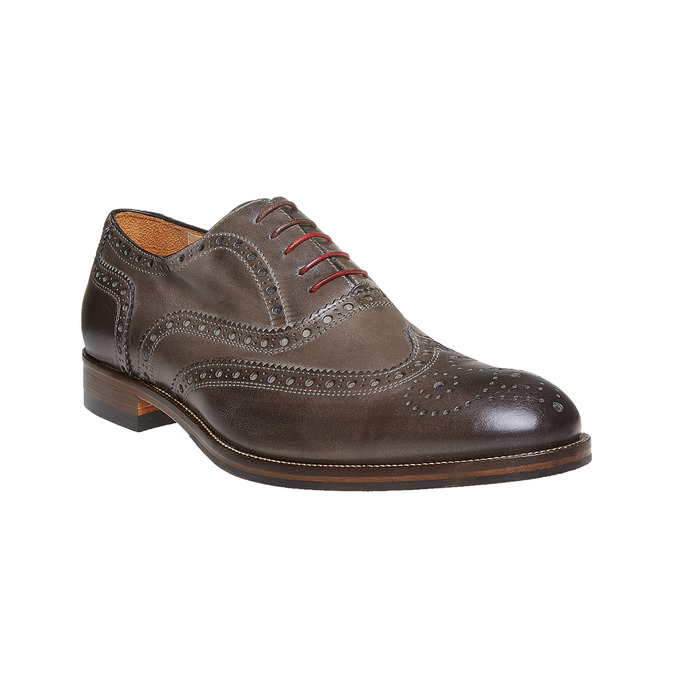 Oxford en cuir shoemaker, Gris, 824-2594 - 13