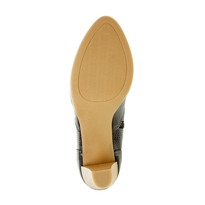 Chaussure en cuir à talon bata, Noir, 724-6932 - 26