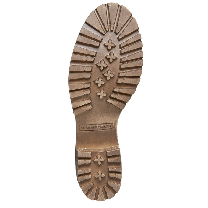 Chaussures en cuir à semelle tracteur avec bordure originale weinbrenner, Gris, 694-2167 - 26