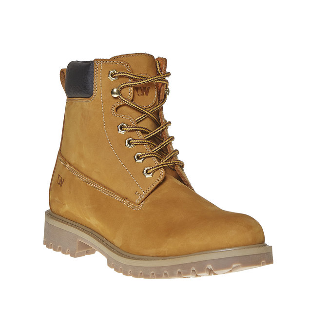 Chaussure d'hiver en cuir pour homme weinbrenner, Jaune, 896-8705 - 13