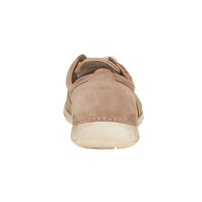Chaussure lacée décontractée en cuir weinbrenner, Brun, 846-4657 - 17