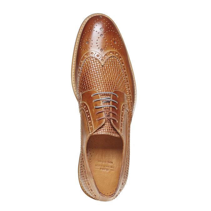 Chaussure lacée en cuir décoration Brogue bata-the-shoemaker, Brun, 824-3302 - 19
