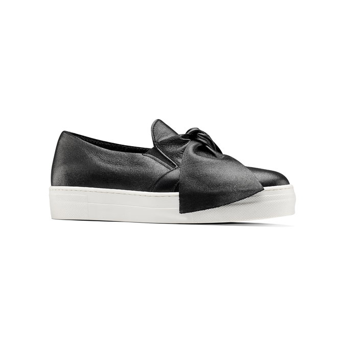 Slip-on en cuir north-star, Noir, 514-6264 - 13