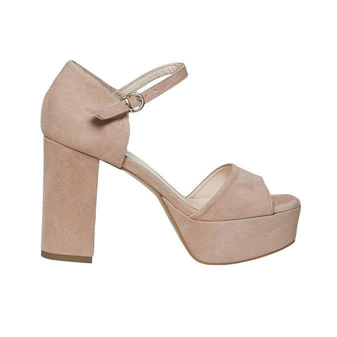 Sandale à talon en cuir bata, 763-8568 - 15