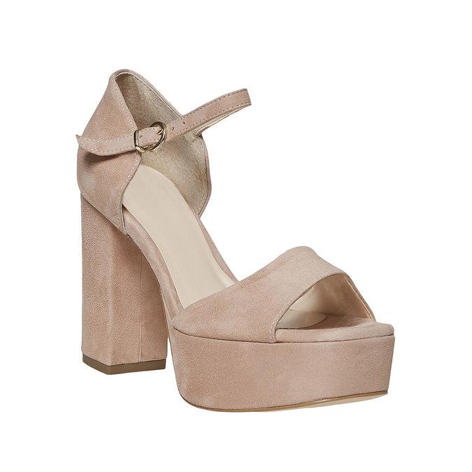 Sandale à talon en cuir bata, 763-8568 - 13