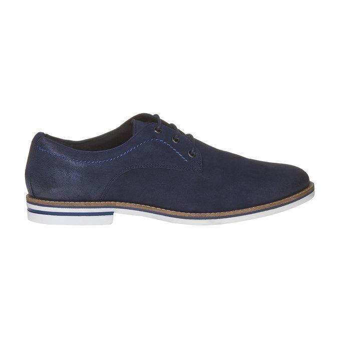 Chaussure lacée décontractée en cuir bata, Violet, 826-9642 - 15
