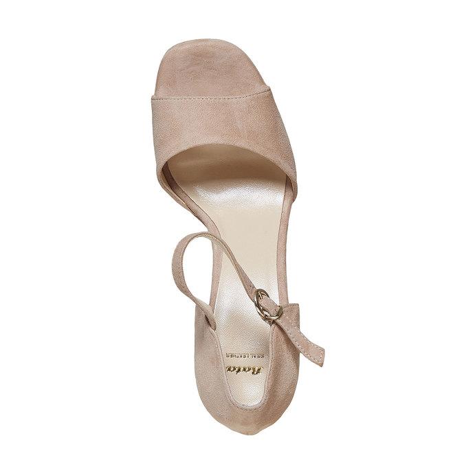 Sandale à talon en cuir bata, 763-8568 - 19
