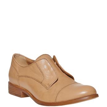 Chaussure en cuir sans lacet bata, Brun, 514-3267 - 13