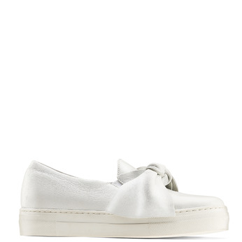 Slip-on en cuir à nœud north-star, Blanc, 514-1264 - 13
