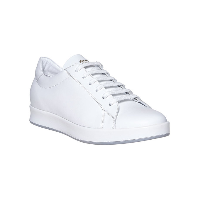 Basket blanche en cuir flexible, Blanc, 844-1705 - 13