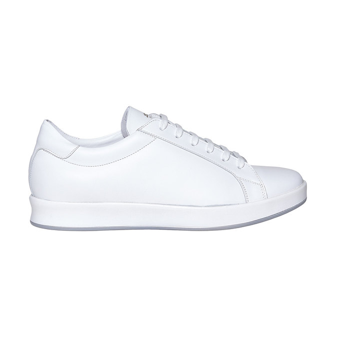 Basket blanche en cuir flexible, Blanc, 844-1705 - 15