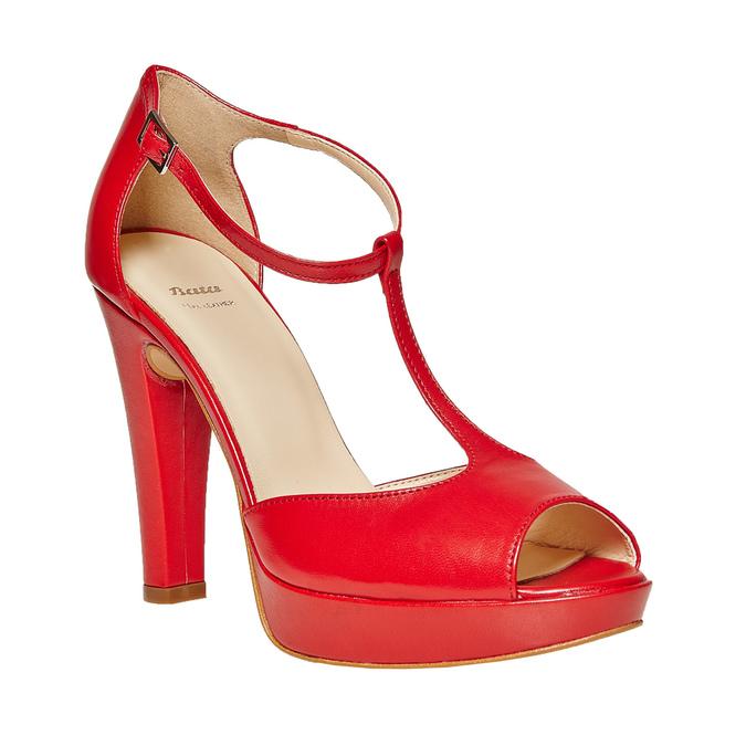 Sandale à talon rouge bata, Rouge, 724-5708 - 13