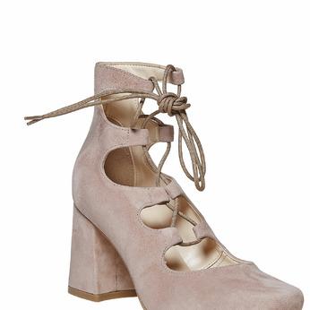 Sandale à talon massif bata, Jaune, 723-8373 - 13