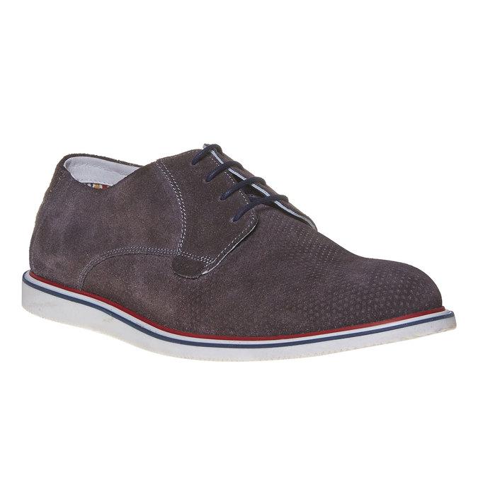 Chaussure lacée décontractée en cuir bata, Gris, 823-2239 - 13