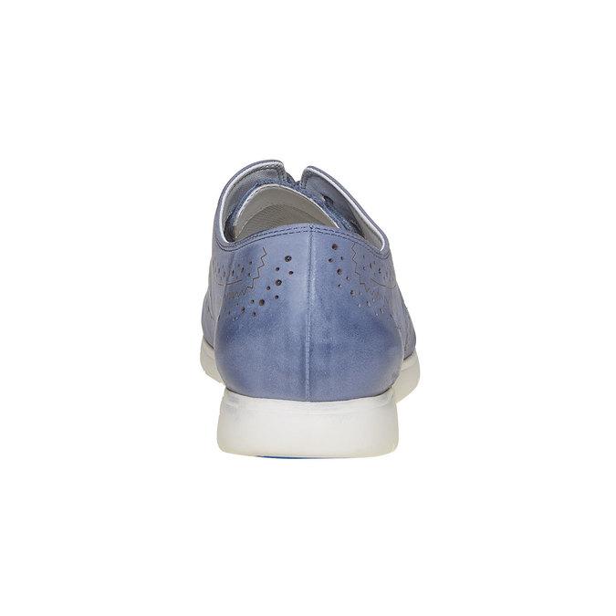 Chaussure lacée en cuir bleue bata, Violet, 526-9567 - 17