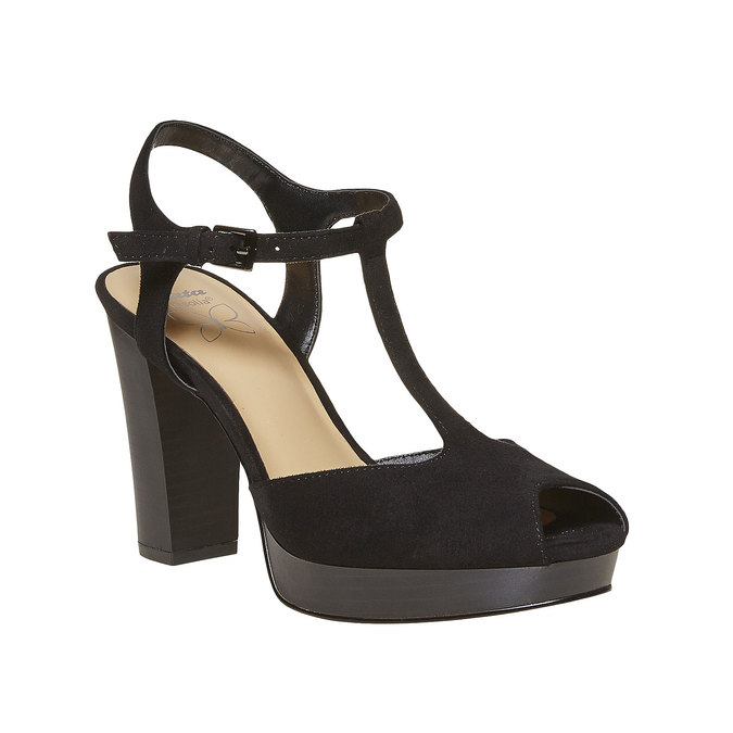 Sandale à talon femme insolia, Noir, 769-6737 - 13