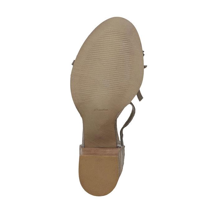 Sandale à franges femme bata, Jaune, 763-8519 - 26