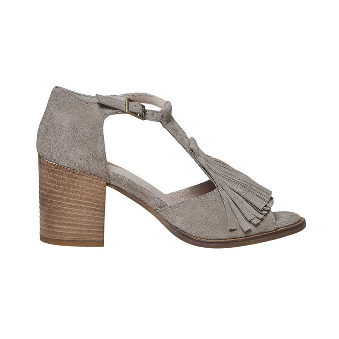 Sandale à franges femme bata, Jaune, 763-8519 - 15