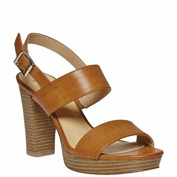 Sandale femme à plateforme insolia, Brun, 761-4727 - 13
