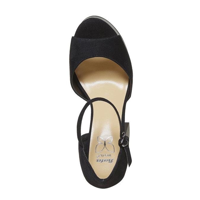 Sandale femme à talon massif insolia, Noir, 769-6493 - 19