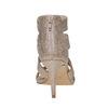 Sandale dorée femme insolia, Jaune, 761-8399 - 17