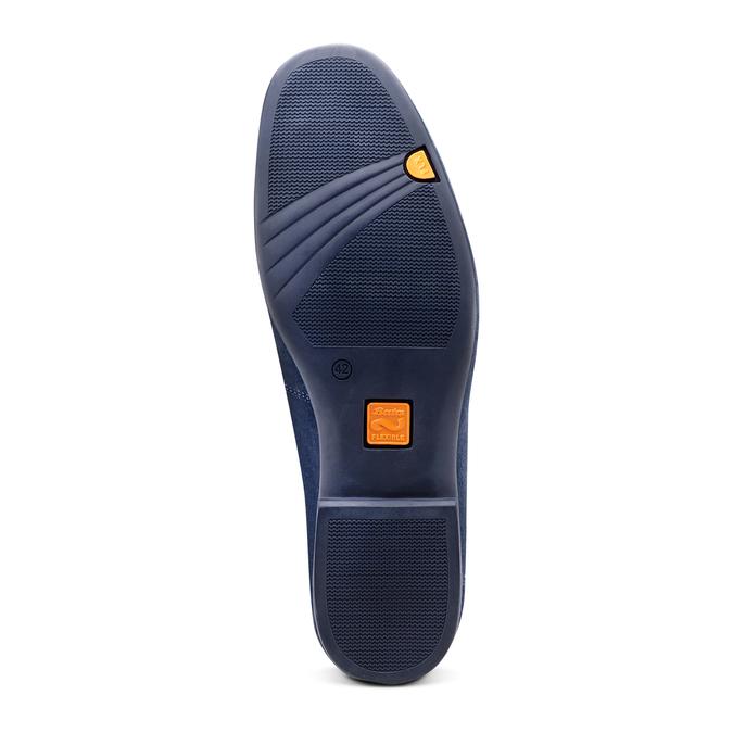 Mocassin en cuir bleu flexible, Violet, 853-9172 - 19