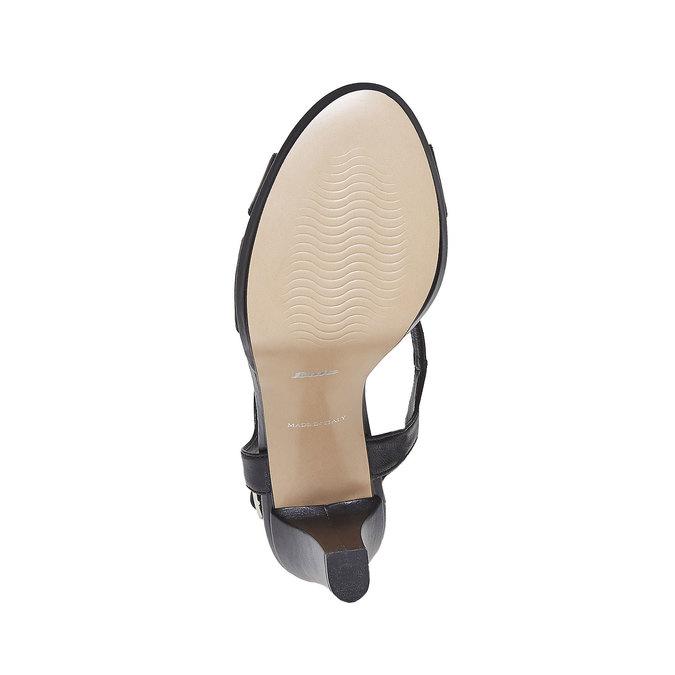 Sandale en cuir femme bata, Noir, 764-6587 - 26