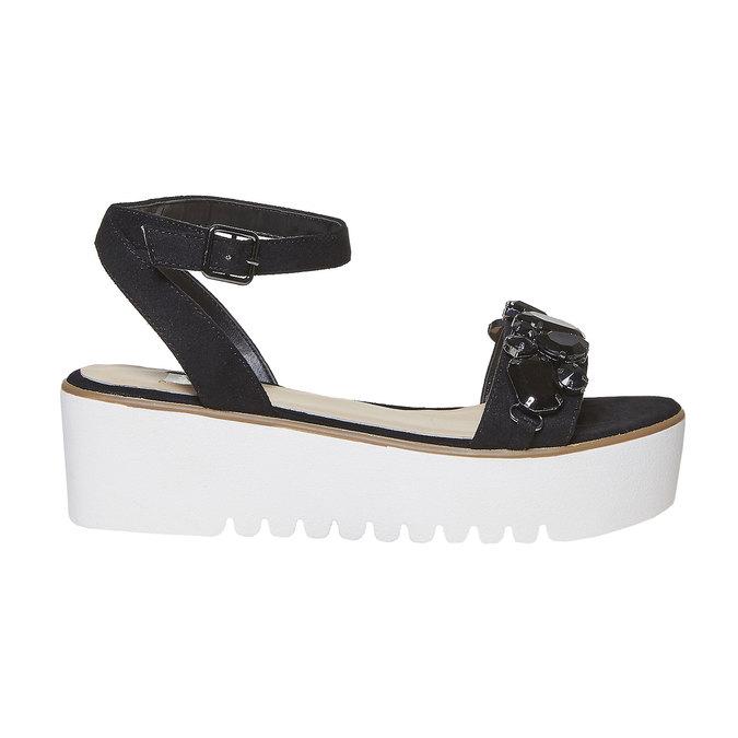 Sandale femme à plateforme épaisse bata, Noir, 669-6234 - 15