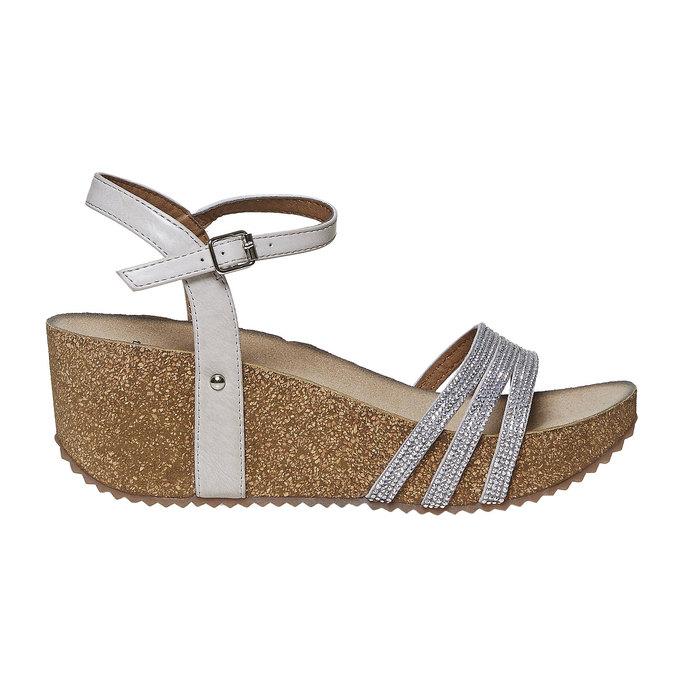 Chaussures Femme bata, Gris, 661-2213 - 15