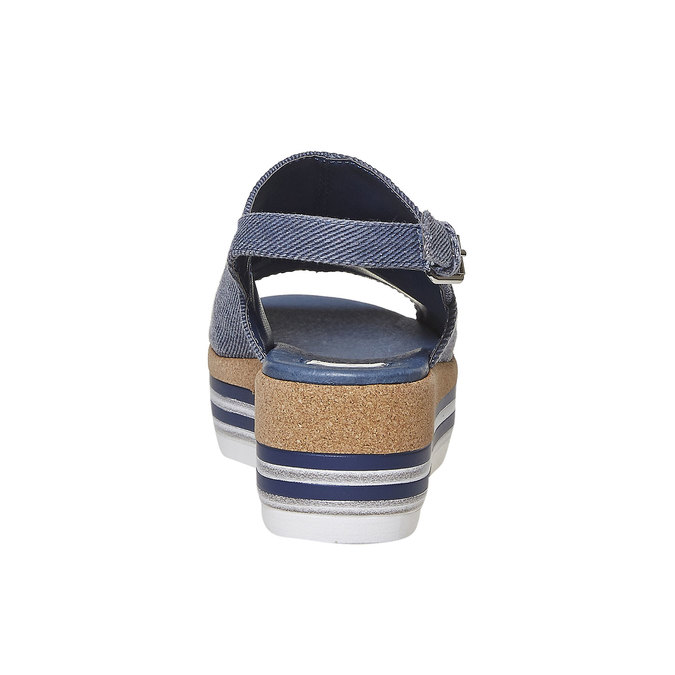Sandale en jean à plateforme bata, Violet, 669-9241 - 17