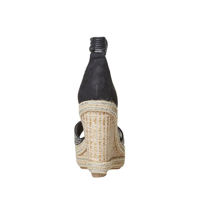 Sandale femme à plateforme effet naturel bata, Noir, 769-6573 - 17