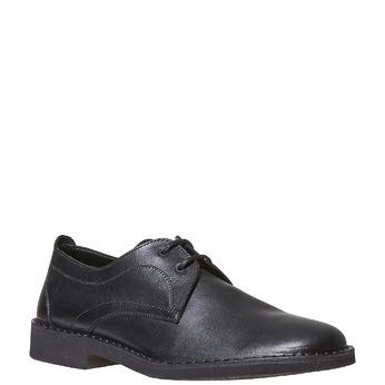 Chaussure lacée en cuir pour homme bata, Noir, 854-6111 - 13