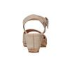 Sandale en cuir à talon compensé bata, Jaune, 764-8598 - 17
