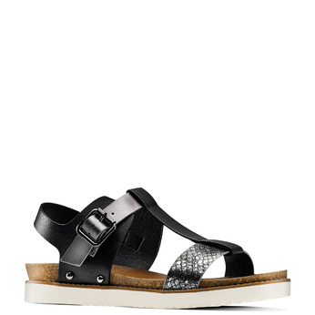 Sandale femme semelle épaisse bata, Noir, 561-6295 - 13