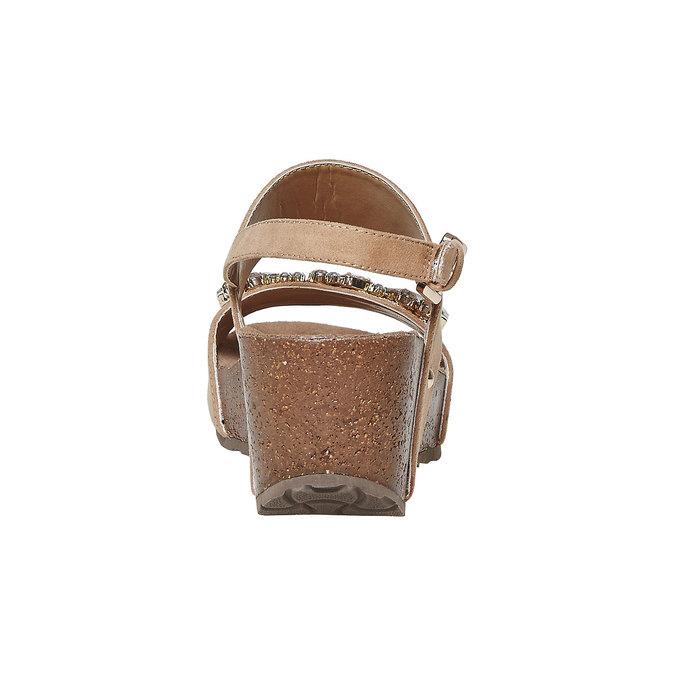 Sandale à plateforme avec petites pierres bata, Jaune, 669-8209 - 17