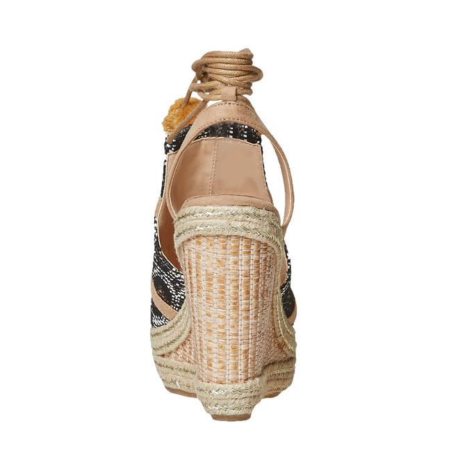 Sandale compensée femme à lacet bata, Gris, 769-2574 - 17